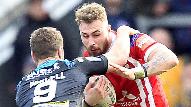 Jansin Turgut in action for Salford in February last year