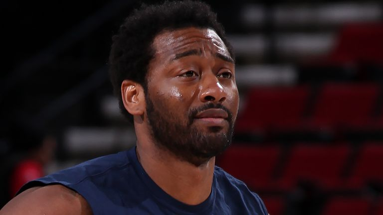 John Wall had  begun taking part in pre-game warm-ups before the NBA season was suspended in March