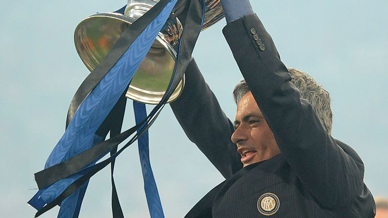 Jose Mourinho made history when he took Inter Milan to the Champions League title in 2010