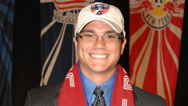 Josh Lambo poses for photo after being selected 8th by FC Dallas in the MLS Super Draft on January 18, 2008