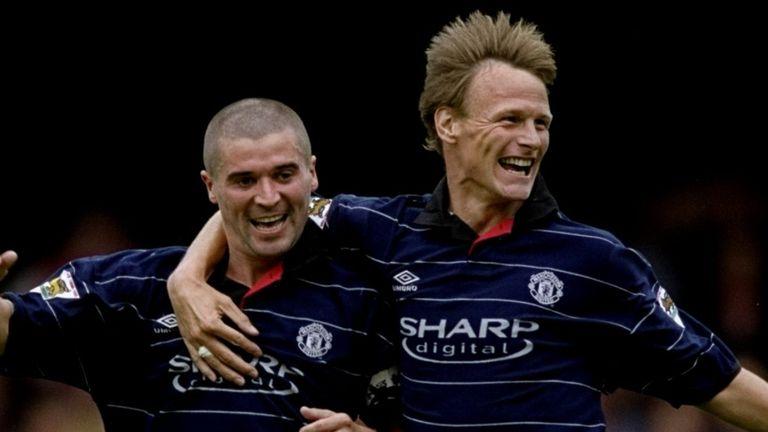 Sheringham won three Premier League titles alongside captain Roy Keane at Old Trafford