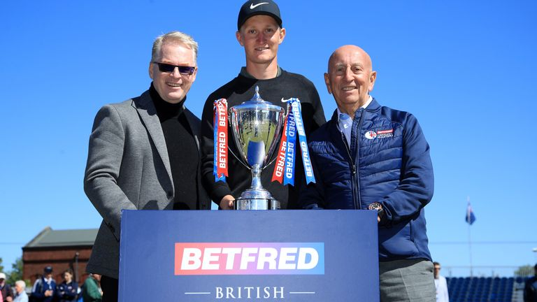 The British Masters, won in 2019 by Marcus Kinhult, will be held at Close Hose this July