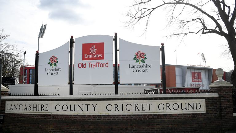 Outside Old Trafford cricket ground