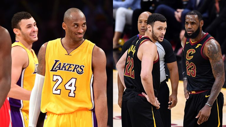 Larry Nance Jr. played with both Kobe Bryant and LeBron James