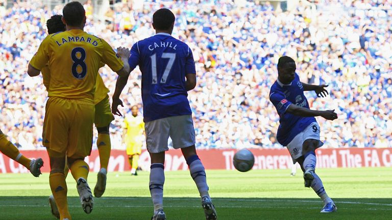 Louis Saha gave Everton the perfect start with the fastest FA Cup final goal