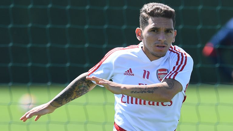 Lucas Torreira, Arsenal training
