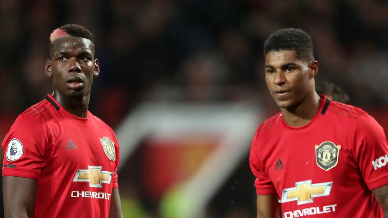 Pogba and Marcus Rashford are fit to return when the Premier League season resumes