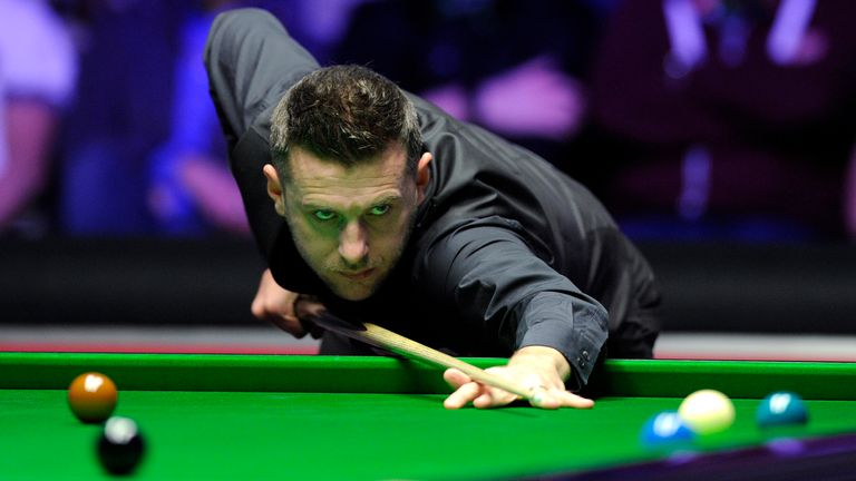 Mark Selby should have been playing at the Crucible this month, but instead will be throwing arrows from his own home