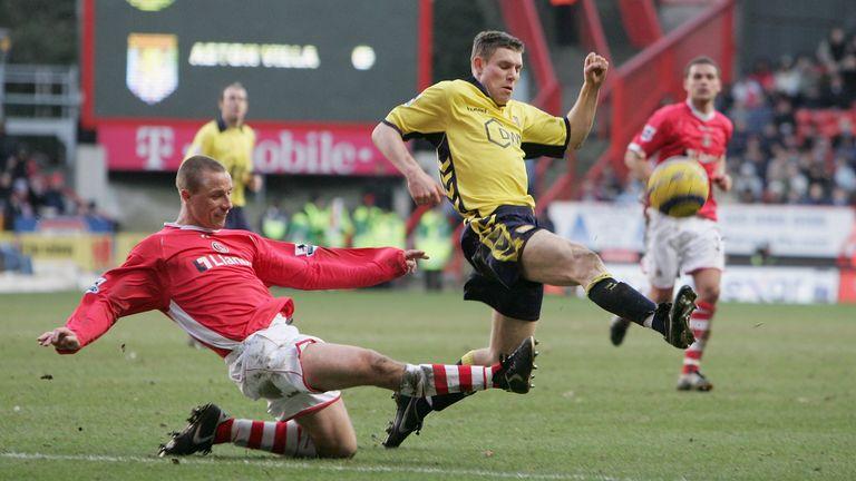 James Milner moved into central midfield at Aston Villa