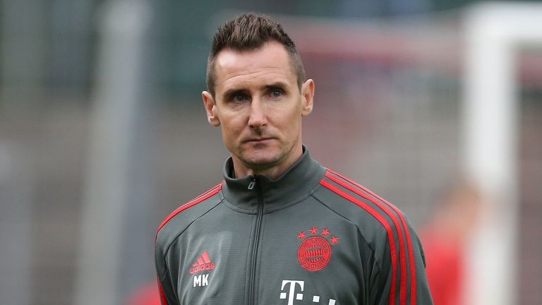 Miroslav Klose is currently in charge of Bayern Munich's U17s