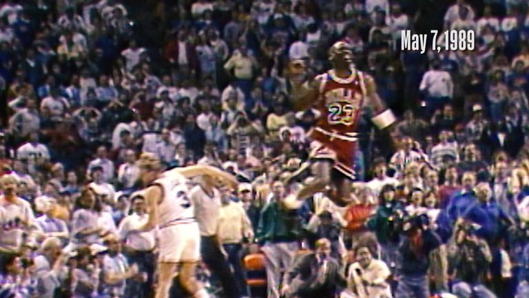 On this day in 1989, Michael Jordan's iconic buzzer beater helped the Chicago Bulls reach the second round of the playoffs at the expense of the Cleveland Cavaliers.