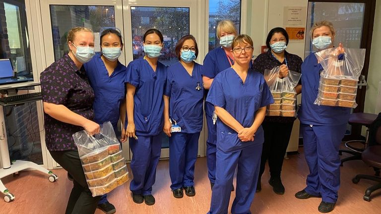 Jhai Dhillon's company RNS have been supplying free meals to NHS wards