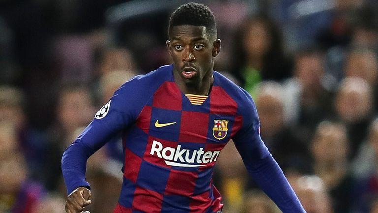 Ousmane Dembele in action for Barcelona against Borussia Dortmund at Camp Nou