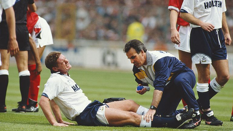 Gascoigne's career looked in tatters after a shocking injury in the 1991 FA Cup final