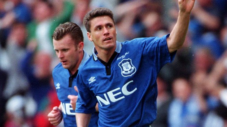 Match-winner Paul Rideout celebrates his strike in the first half at Wembley