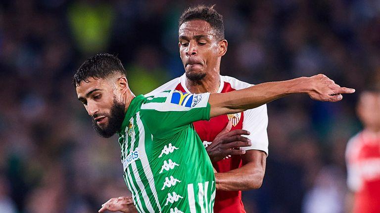 Action from Real Betis vs Sevilla in November, 2019