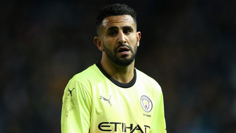 Riyad Mahrez was denied by VAR against Liverpool last week
