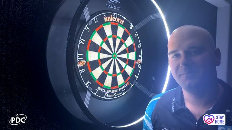 Rob Cross during the PDC Home Tour