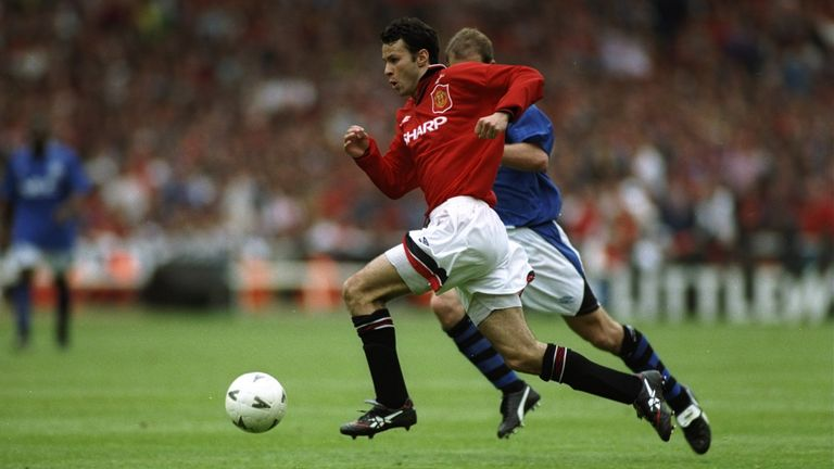 Ryan Giggs was a second-half sub for the Premier League runners-up