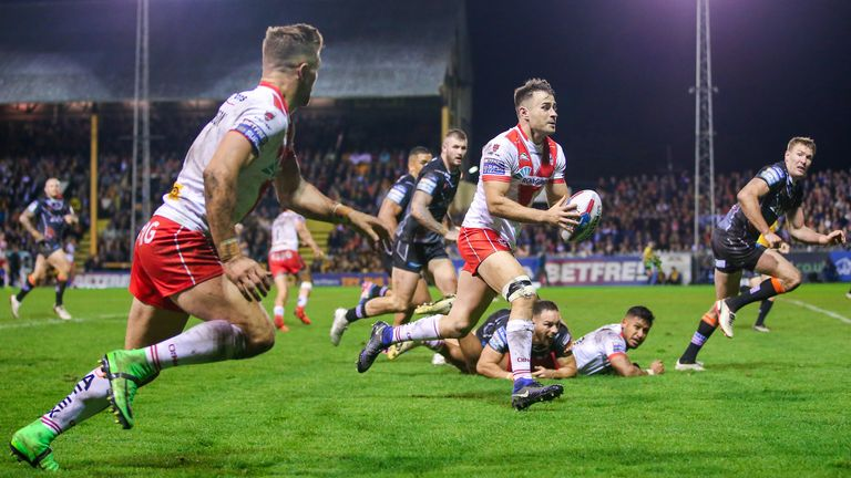 Ryan Morgan's try helped St Helens overturn a 10-point deficit to lead late on