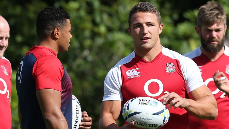 Burrell found himself in competition with Sam Burgess for a place in England 2015 Rugby World Cup squad