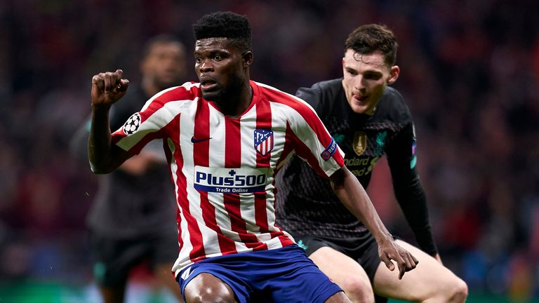 Partey impressed against Liverpool during the Champions League last 16