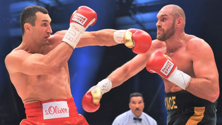 Fury defeated Wladimir Klitschko to become unified champion in 2015