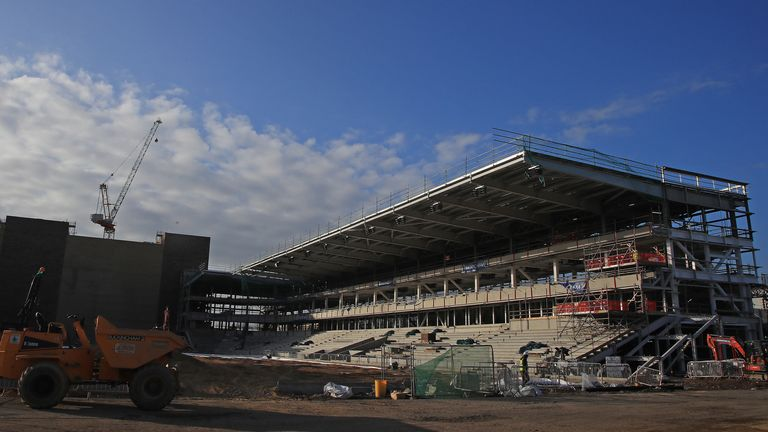 AFC Wimbledon's new stadium is set to be completed by October 25