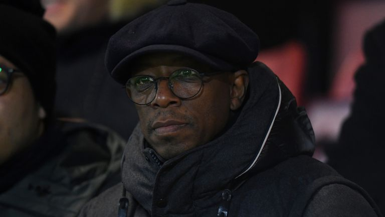 Ian Wright revealed he had been subjected to abuse on Twitter