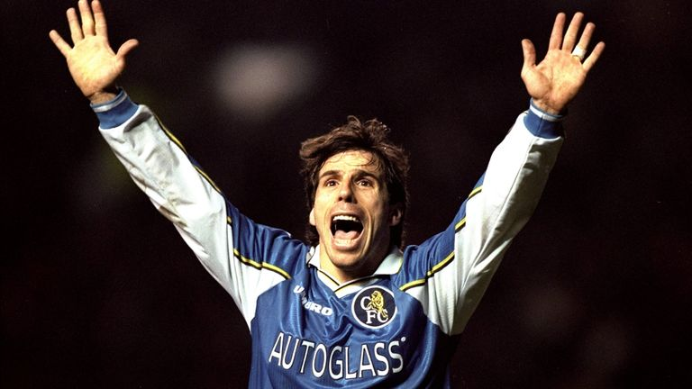 Gianfranco Zola had limited opportunities in the Champions League during his career