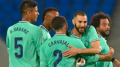Karim Benzema was on target for Real Madrid as they went to the top of the La Liga table