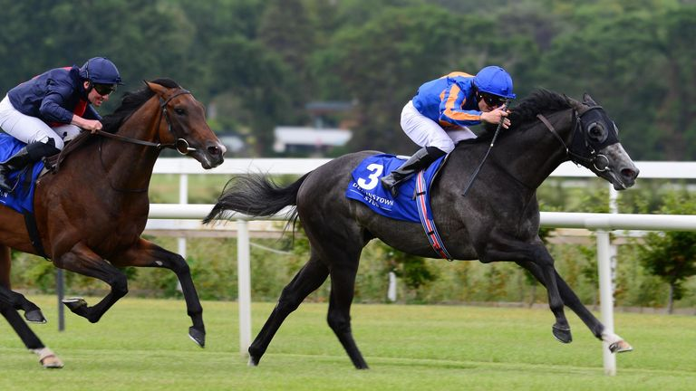 Cormorant ridden by Padraig Beggy wins the Derrinstown Stud Derby Trial Stakes