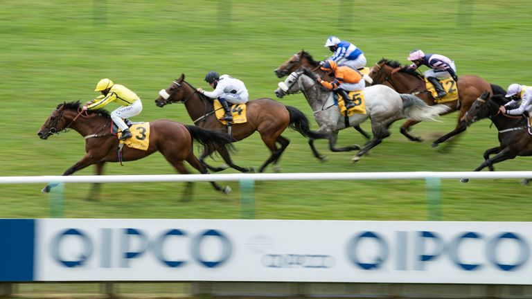 Far Above ridden bv PJ McDonald wins the Betfair supports Racing Welfare Palace House Stakes from Judicial ridden by Callum Rodriguez at Newmarket Racecourse. PA Photo. Issue date: Saturday June 6, 2020. See PA story RACING Newmarket. Photo credit should read: Edward Whitaker/PA Wire