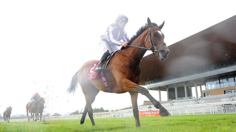 Magical and Seamie Heffernan win the Alwasmiyah Pretty Polly Stakes at Curragh Racecourse.