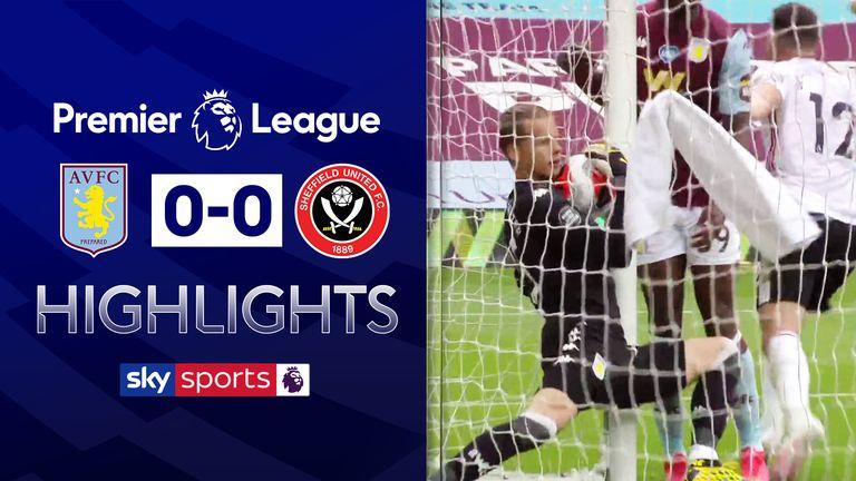 Aston Villa 0 0 Sheffield United Visitors Denied By Tech Error On Premier League S Return Football News Sky Sports