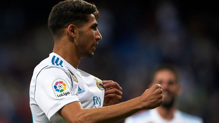 Achraf Hakimi has made 17 appearances for Real Madrid in all competitions to date