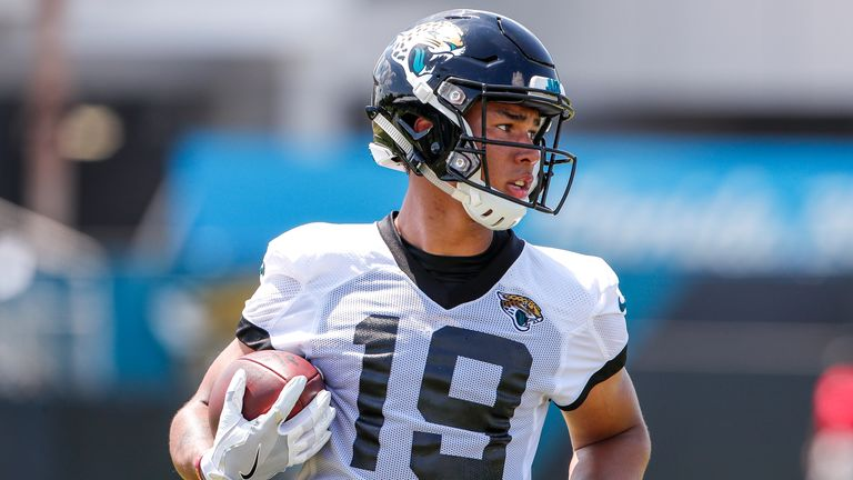 Lazard works out for the Jacksonville Jaguars during training camp in 2018
