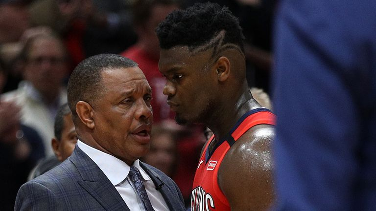 Pelicans coach Alvin Gentry offers advice to rookie star Zion Williamson