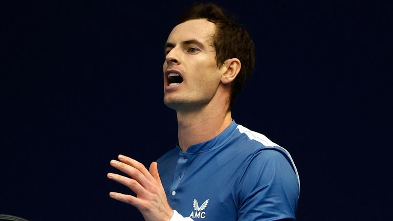 """Andy Murray played four matches in five days in what he described as a """"positive week"""" at the Battle of the Brits"""