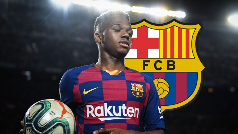 Barcelona's Ansu Fati is a young player with the world at his feet