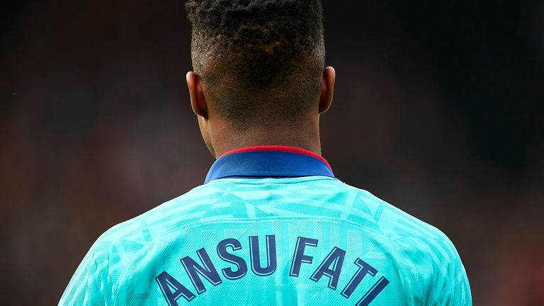 Fati is the second youngest player to play for Barcelona's first team