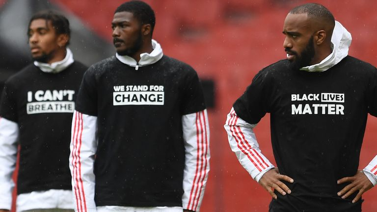 Black Lives Matter Premier League Players To Have Black Lives Matter Replacing Names On Shirts Football News Sky Sports
