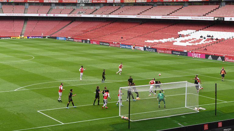 Arsenal played friendlies against Brentford and Charlton at the Emirates Stadium last week