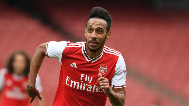Pierre-Emerick Aubameyang was also on the scoresheet for Arsenal