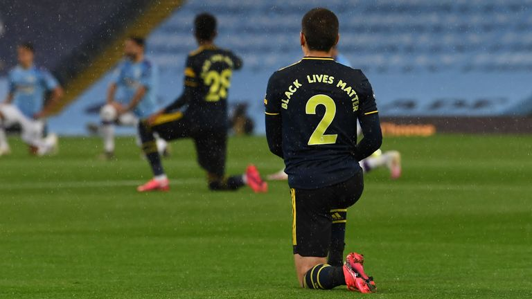 Premier League players have been taking a knee in support of the Black Lives Matter movement