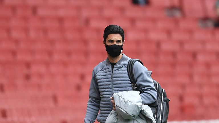 Arsenal head coach Mikel Arteta before the friendly match between Arsenal and Charlton