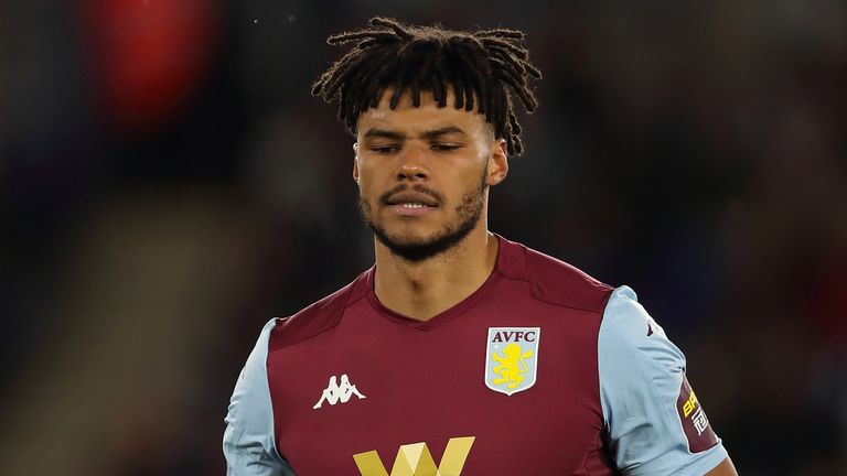 Aston Villa's Tyrone Mings was in Birmingham to protest over the the death of George Floyd in America