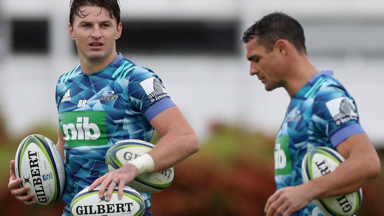 Legendary fly-halves Beauden Barrett and Dan Carter have joined the Blues