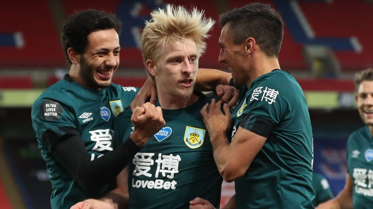 Ben Mee's header gave Burnley the lead over Palace