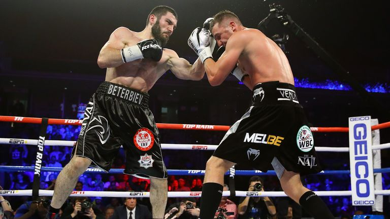 Beterbiev is undefeated with 15 KOs in 15 fights